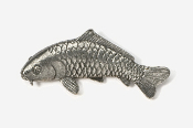 #133A - Koi Antiqued Pewter Pin