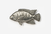 #154 - Tilapia Antiqued Pewter Pin