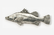 #166 - Barramundi Antiqued Pewter Pin