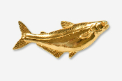 #101AG - Pangasius 24K Gold Plated Pin