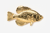 #113G - Black Crappie 24K Gold Plated Pin