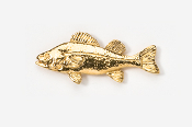 #118G - Yellow Perch 24K Gold Plated Pin