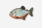 #110P - Piranha Hand Painted Pin