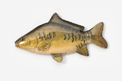 #133P - Mirror Carp Hand Painted Pin