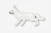#409P-A - Arctic Fox Hand Painted Pin