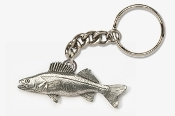 #K119 - Walleye Antiqued Pewter Keychain