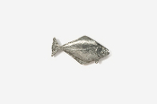#M223 - Halibut Pewter Mini-Pin