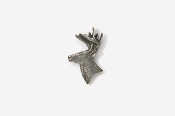 #M400 - Buck Head Pewter Mini-Pin