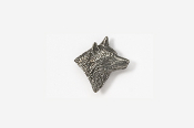 #M429 - Right Facing Wolf Head Pewter Mini-Pin