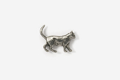 #M438 - Walking Cat Pewter Mini-Pin