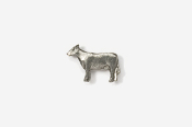 #M445 - Cow Pewter Mini-Pin