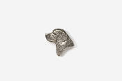 #M450B - Labrador Retriever Head Pewter Mini-Pin