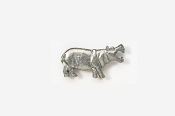 #M491 - Hippopotamus Pewter Mini-Pin
