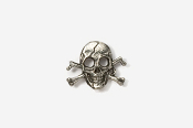 #M801 - Skull and Cross Bones / Pirate Skull Pewter Mini-Pin