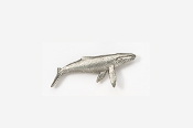 #M485 - Humpback Pewter Mini-Pin
