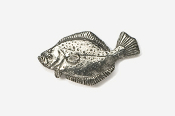 #205 - Fluke / Summer Flounder  Antiqued Pewter Pin