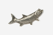 #209 - Right Facing Tarpon Antiqued Pewter Pin