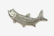 #209A - Left Facing Tarpon Antiqued Pewter Pin