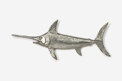 #217 - Swordfish Antiqued Pewter Pin