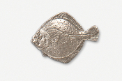#222D - Turbot Antiqued Pewter Pin