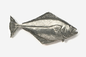 #223 - Halibut Antiqued Pewter Pin