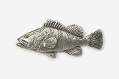 #225 - Grouper Antiqued Pewter Pin