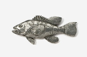 #229 - Sea Bass Antiqued Pewter Pin