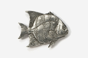 #239 - Spadefish Antiqued Pewter Pin