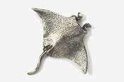#255 - Manta Ray Antiqued Pewter Pin