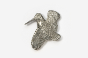 #304 - Woodcock Antiqued Pewter Pin