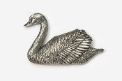 #316 - Swan Antiqued Pewter Pin
