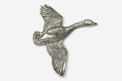 #320 - Flying Canada Goose Antiqued Pewter Pin