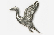 #323 - Flying Pintail Antiqued Pewter Pin