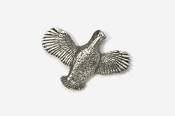 #329 - Open Wing Flying Bobwhite Antiqued Pewter Pin