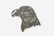 #330 - Eagle Head Antiqued Pewter Pin