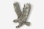 #333 - Left Flying Eagle Antiqued Pewter Pin