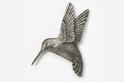 #350 - Left Flying Hummingbird Antiqued Pewter Pin