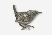 #373 - Wren Antiqued Pewter Pin