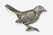 #374 - Robin Antiqued Pewter Pin