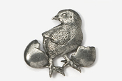 #382 - Chick and Egg Antiqued Pewter Pin