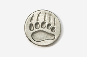 #405F - Bear Track Antiqued Pewter Pin