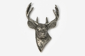 #421 - 8 Point Buck Antiqued Pewter Pin