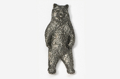 #423E - Standing Brown Bear Antiqued Pewter Pin