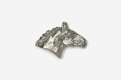 #440 - Horse Head Antiqued Pewter Pin