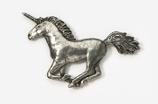 #443A - Unicorn Antiqued Pewter Pin