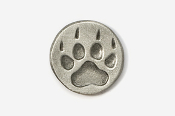 #450F - Paw Print Antiqued Pewter Pin