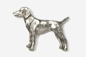 #451B - Viszla Antiqued Pewter Pin
