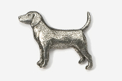 #453 - Beagle Antiqued Pewter Pin