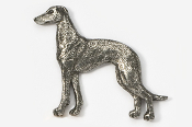 #453A - Greyhound Antiqued Pewter Pin