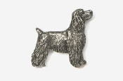 #455E - Pet Clip Cocker Spaniel Antiqued Pewter Pin